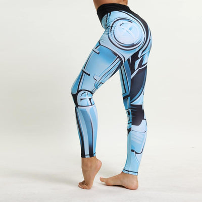"""Bambi"" Steel Digital Print High Waist Leggings"