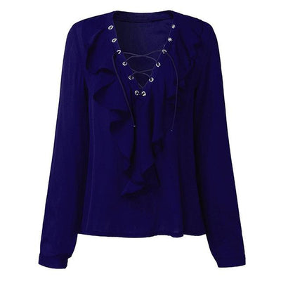"""Kinsley"" Sexy Top Women Chiffon Blouse"
