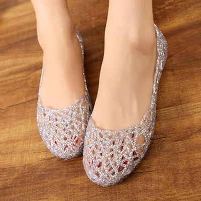 """Belle"" Casual Jelly Flats Sandals"