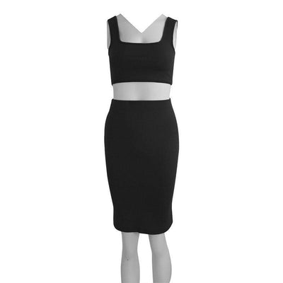 """Jessie"" Two Piece Set Bodycon Summer Dress"
