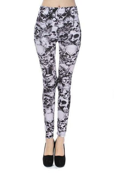 """Jacqueline"" Fancy Fashion Lattice Printing Leggings"