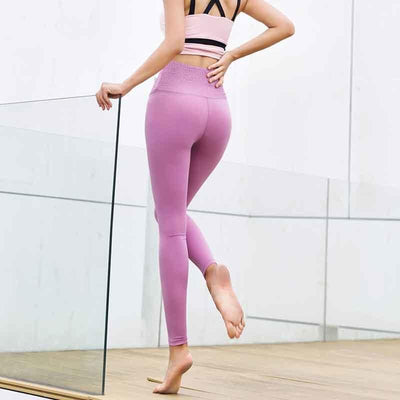 """Rebecca"" Solid Slim Push Up Workout Leggings"