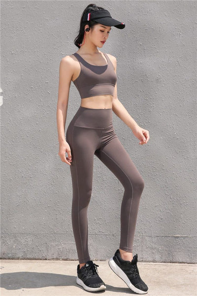 """Charlize"" Elastic High Waist  Workout Leggings"