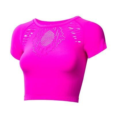 """Aimee"" Slim Fit O-neck Short Yoga Top"