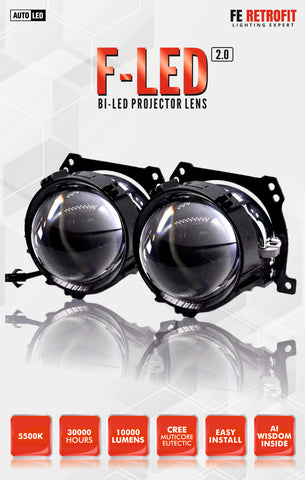 F LED 2.0 Bi Led Projector Lens Kit