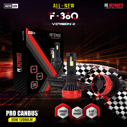 F-360 Version 2 55W Led Headlight Bulb