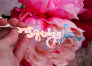 Squiggle Yarn Co. Keyring - Transulcent Angel