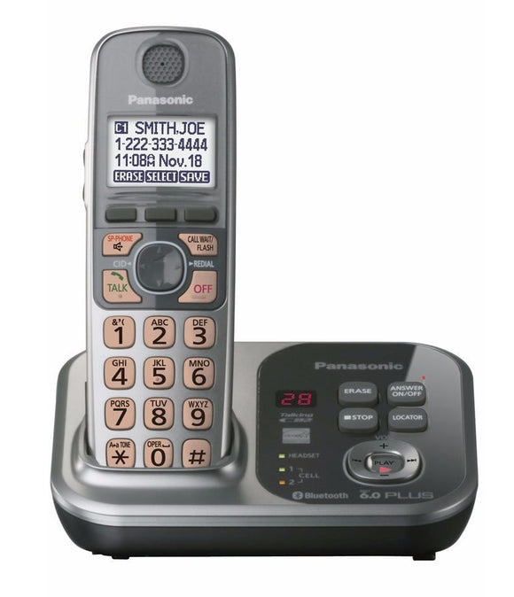 1 Handsets KX-TG7731S 1.9 GHz Digital wireless phone DECT 6.0 Link to Cell via Bluetooth Cordless Phone with  Answering system
