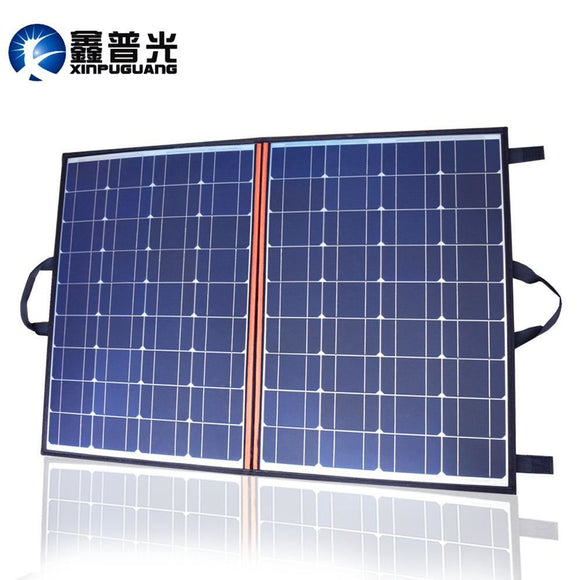100W 110W Solar Panel Foldable Portable Charger 12V/24V 10A Controller For 12V Battery Power Bank Dc Outdoor Blanket - $174.00
