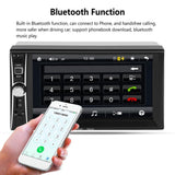 1080P HD 7inch Car Radio MP5 DVD Player Touch Screen Bluetooth 2 Din Car Audio Music Player Support Rear View Camera
