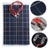 12V 30W Solar Panel PolyCrystalline Semi Flexible Solar Battery for Car Boat Emergency Lights Solar Systems Solar Module