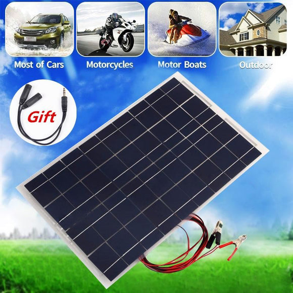 12V 30W Solar Panel Polycrystalline Semi Flexible Battery For Car Boat Emergency Lights Systems Module - $52.00