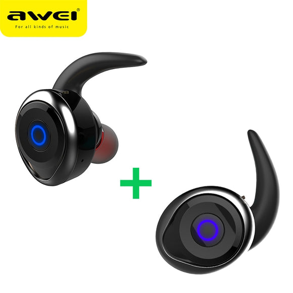 AWEI T1 TWS Mini Bluetooth Earphone Headset Double Wireless Earbuds Cordless Headphones Casque Kulakl k Earpiece For Cellphone