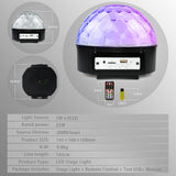 Atotalof 25W LED Stage Light Support Bluetooth 9 Colors Stage Lighting Effect Remote Control 7 Sound Control Modes Party Light