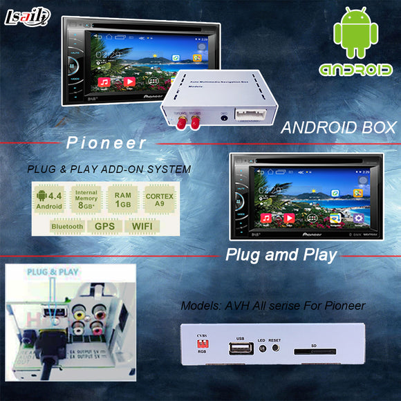 Universal Android 6.0 GPS navigation box for pioneer unit with cast screen bluetooth wifi