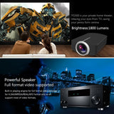 Aao Yg500 Mini Projector 1800 Lumens Portable 854*480 Lcd Support 1080P Hdmi Home Cinema Led 3D - $94.00