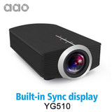 Aao Yg500 Upgrade Yg510 Mini Projector 1080P 1800Lumen Portable Lcd Led Home Cinema Usb Hdmi 3D Beamer Bass Speaker - Germany / Sync Display