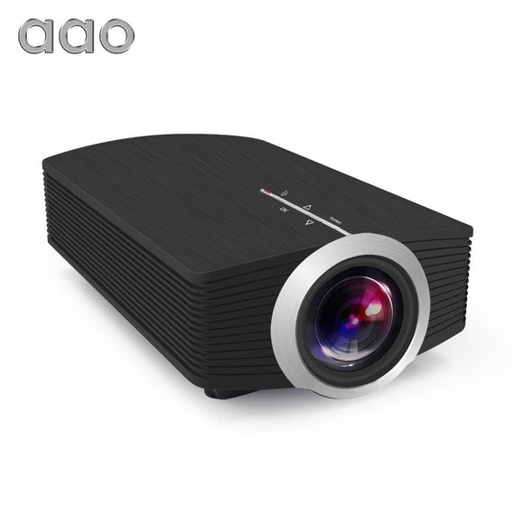 Aao Yg500 Upgrade Yg510 Mini Projector 1080P 1800Lumen Portable Lcd Led Home Cinema Usb Hdmi 3D Beamer Bass Speaker - $93.00