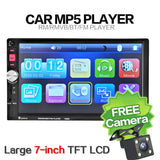 Newest 7080B Car Video Player 7 Inch With Hd Touch Screen Bluetooth Stereo Radio Mp3 Mp4 Mp5 Audio Usb Auto Electronics Hot - $80.00