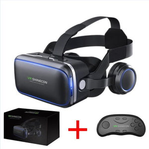 Original Vr Shinecon 6.0 Headset Version Virtual Reality Glasses 3D Helmets Smart Phones Full Package+Gamepad - $40.00