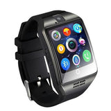 Szmdc Bluetooth Smart Watch S18 With Camera Facebook Whatsapp Twitter Sync Sms Support Sim Tf Card For Ios Android Phone - Black - $24.00