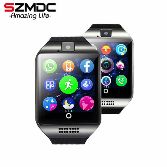 Szmdc Bluetooth Smart Watch S18 With Camera Facebook Whatsapp Twitter Sync Sms Support Sim Tf Card For Ios Android Phone - $24.00