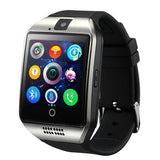 Szmdc Bluetooth Smart Watch S18 With Camera Facebook Whatsapp Twitter Sync Sms Support Sim Tf Card For Ios Android Phone - Silver - $24.00
