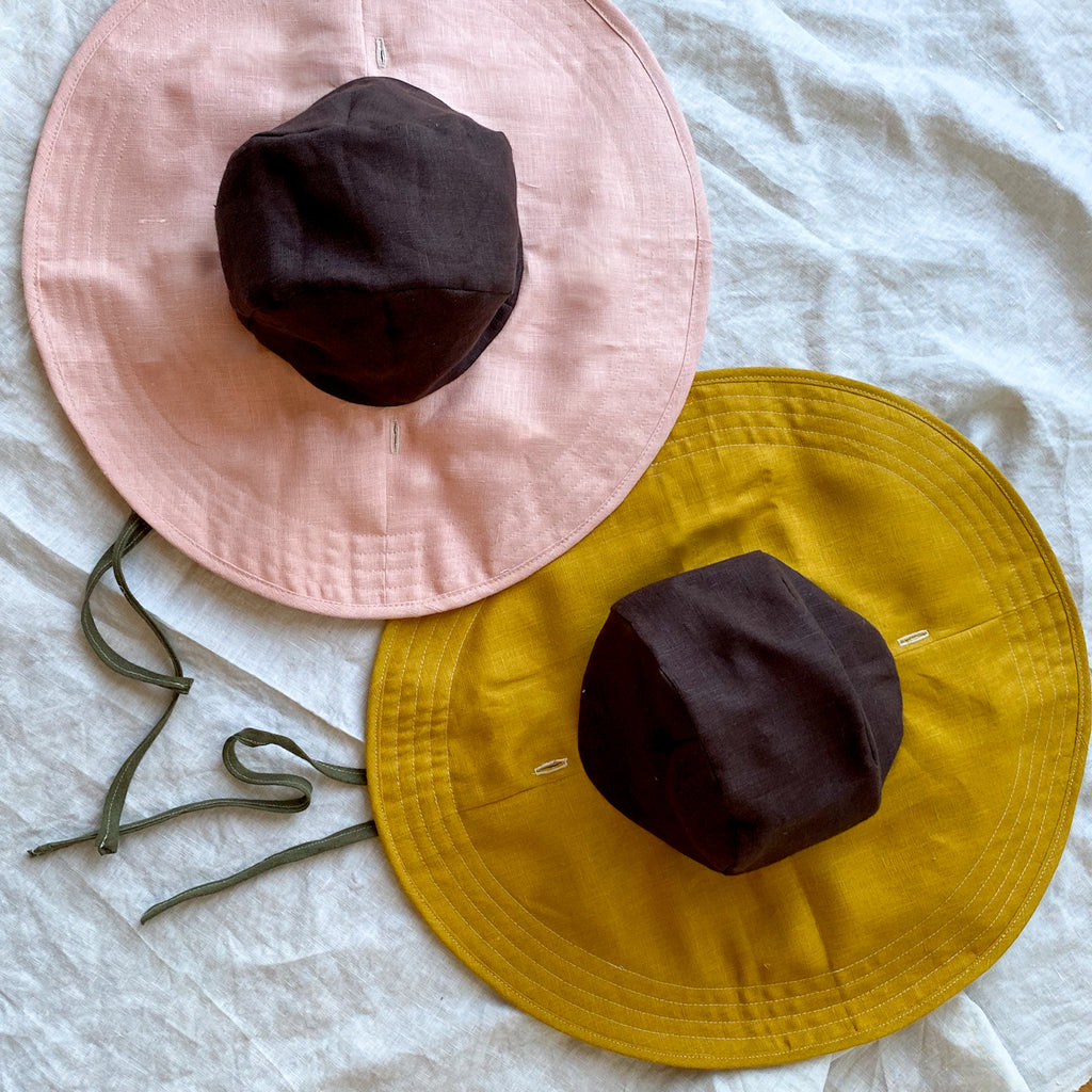 Linen Wildflower Floppy Hats