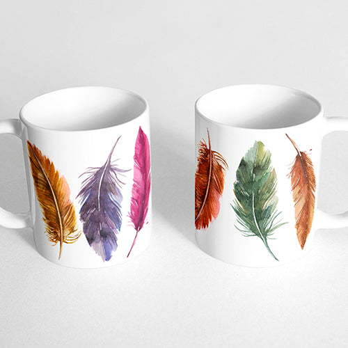 Colorful Feathers Bohemian Mug