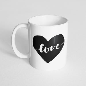 """Love"" with Heart Mug"