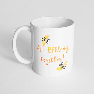 """We BEElong together!"" watercolor mug"