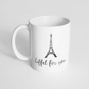 """Eiffel for you."" watercolor mug"