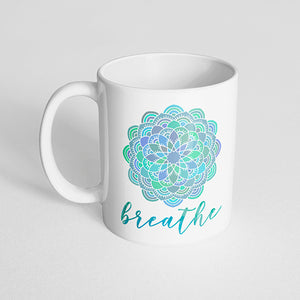 """Breathe"" mandala mug"