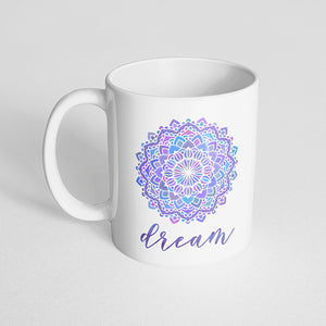 """Dream"" mandala mug"