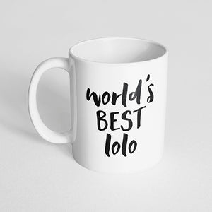 """World's best lolo"" Mug"