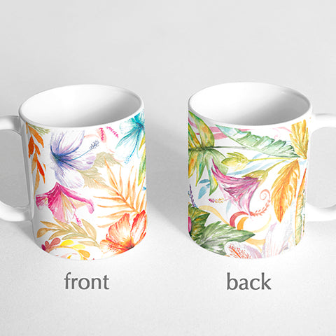 Tropical florals Mug