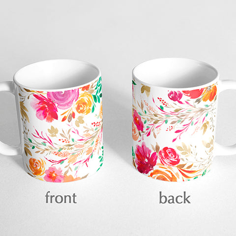 Patterned Florals Mug