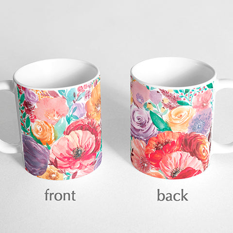 Peonies Watercolor Mug