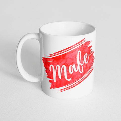 Your Name with a Watercolor Streak Design on a Classic White Mug- Version 1