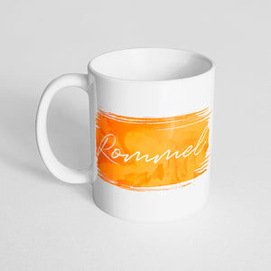 Your Name with a Watercolor Streak Design on a Classic White Mug- Version 2