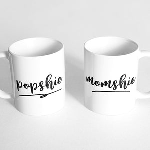 """Popshie"" and ""Momshie"" Couple Mugs"
