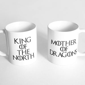 """King of the North"" and ""Mother of Dragons"" Couple Mugs"