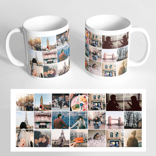 Your 21 Photos on a Classic White Mug