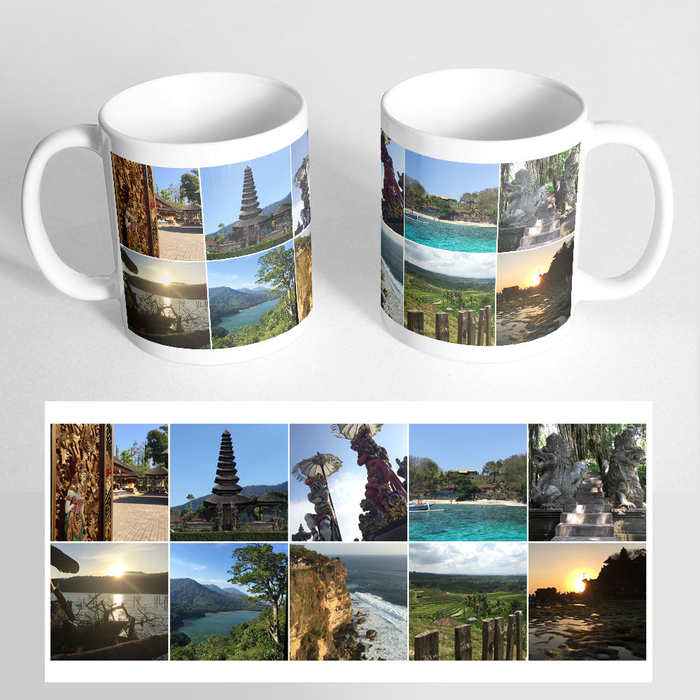 Your 10 Photos on a Classic White Mug