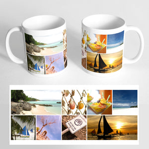 Your 8 Photos on a Classic White Mug