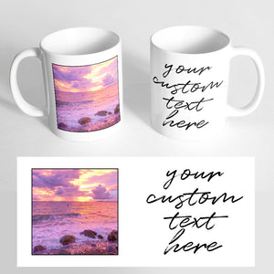 Your Photo and Custom Text on a Classic White Mug