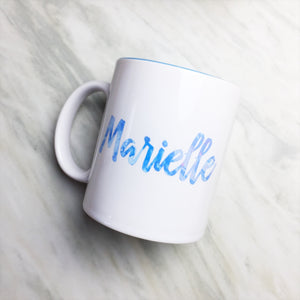 Your Name on a Light Blue Inner-color Mug