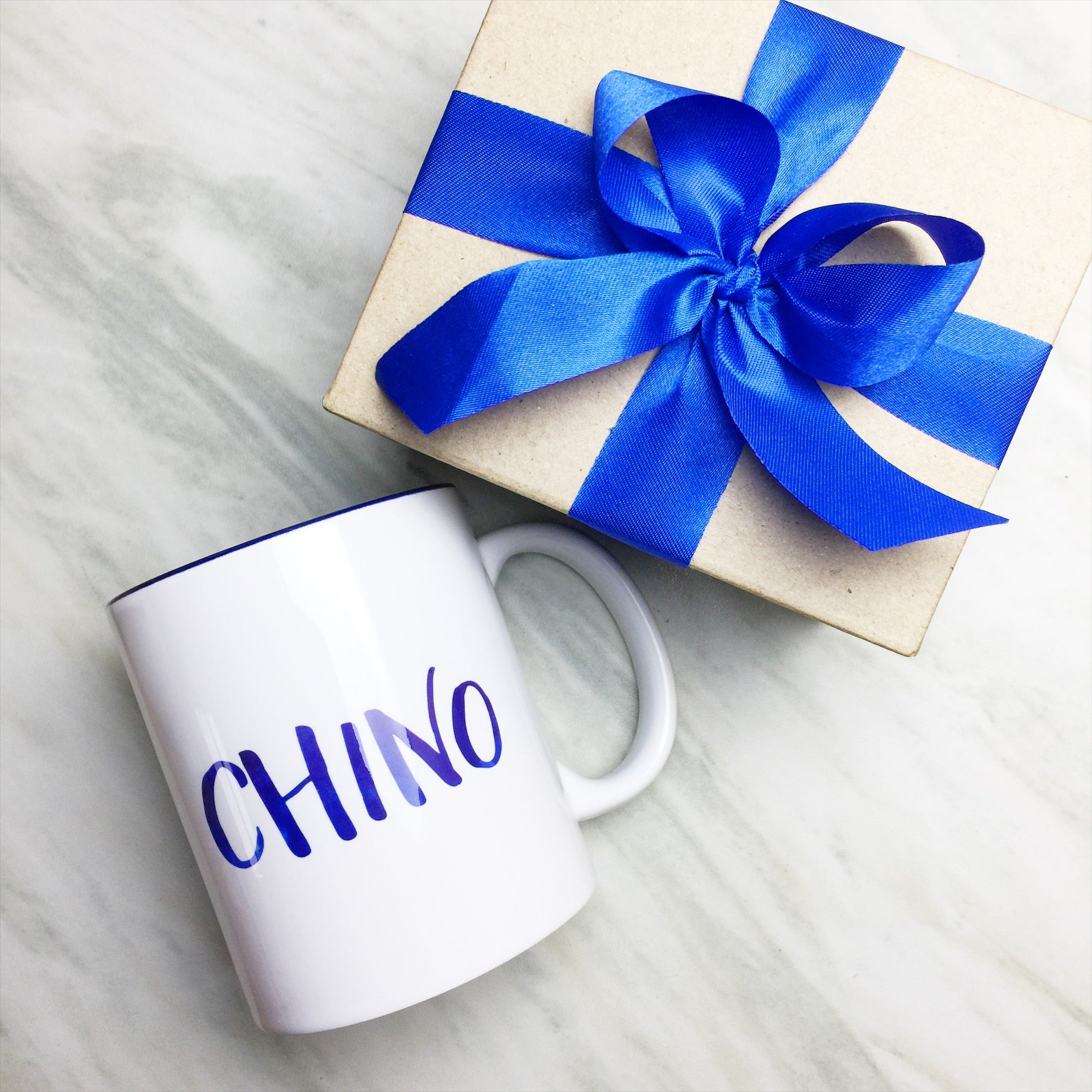 Your Name on a Dark Blue Inner-color Mug + Special Gift Box and ...