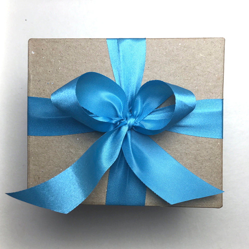 Special Gift Box with Aqua Blue Ribbon