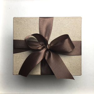 Special Gift Box with Brown Ribbon